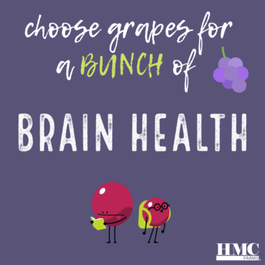 Choose grapes for a bunch of brain health