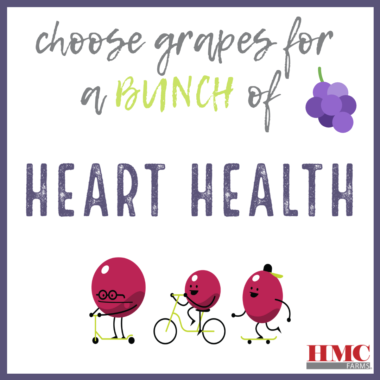 Choose grapes for a bunch of heart health