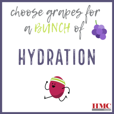 Choose grapes for a bunch of hydration