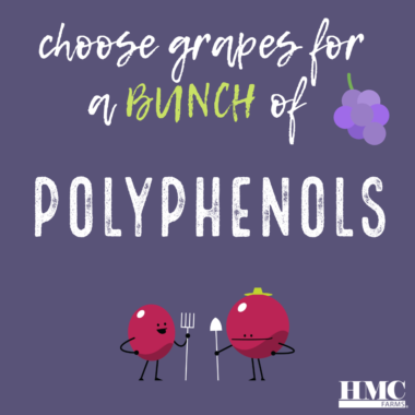 Choose grapes for a bunch of polyphenols