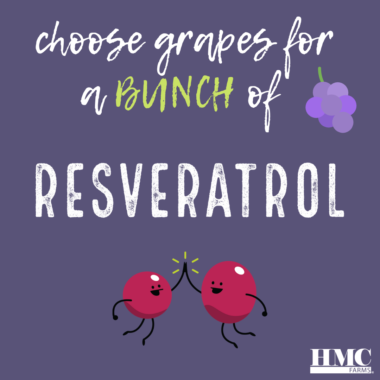 Choose grapes for a bunch of resveratrol